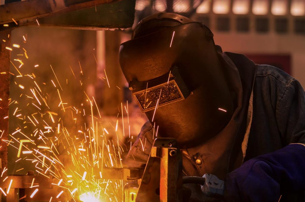Skilled labor force welding